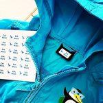 30 x Étiquettes Autocollantes Pour Vêtements, Doudous Et Affaires | Stickers Personnalisés | S'appliquent Sans Couture Ni Repassage de la marque Juste-Coller image 1 produit