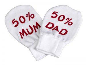 50% Mum & 50% Dad Moufles 100% Coton de la marque Spoilt-Rotten image 0 produit