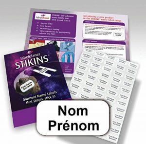 90 étiquettes autocollantes personnalisées pour vêtements, STIKINS Label Planet de la marque STIKINS image 0 produit