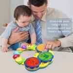 ACTRINIC Jouet pour Bébés de 6 à 12 Mois Jouet de Musique Portable pour Bébés Jouet de Tambour à Main Jouet de Musique pour l'Éducation Précoce/Éclairage/Son Drôle Jouet pour-Deux Couleurs aléatoires de la marque ACTRINIC image 3 produit