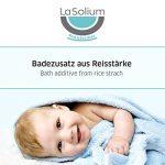 Additif de bain pour bébés et enfants avec amidon de riz, extrait de coing et de mauve. 100% bio + cosmétique naturelle. bain pour bébé et enfants. Poudre pour bébé sans talc. de la marque LaSolium image 2 produit