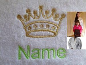 Adulte Peignoir de bain avec une couronne Kings Logo et nom de votre choix en blanc, taille M, L, XL ou XXL, blanc, Taille M de la marque EFY image 0 produit