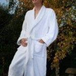 Adulte Peignoir de bain avec une couronne Kings Logo et nom de votre choix en blanc, taille M, L, XL ou XXL, blanc, Taille M de la marque EFY image 1 produit