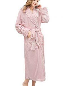 Adulte Unisexe Peignoir de Luxe en Microfibre Manteau Robes avec Ceinture Pyjama de la marque Quge image 0 produit
