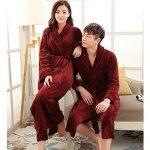 Adulte Unisexe Peignoir de Luxe en Microfibre Manteau Robes avec Ceinture Pyjama de la marque Quge image 1 produit