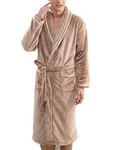 Adulte Unisexe Robe De Chaude Peignoir de Bain Manches Longues Pyjama pour l'hôtel Spa Sauna Vêtements de la marque Quge image 0 produit