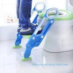 Aerobath Siège de Toilette avec échelle Marches, Reducteur de Toilette Pour Bébés anti-dérapant, robuste, pliable et réglable, Réducteur de WC pour enfants 1-7 ans de la marque Aerobath image 1 produit