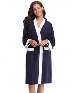 Aiboria Femme Peignoir Hiver Peignoir de Bain Femme Coton Manche Longue Robe de Chambre de la marque Aiboria image 0 produit
