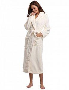 Aibrou Peignoir Femme Velours Robe de Chambre Polaire Femme Chaud Long Flanelle Peignoir de Bain Homme Eponge Hiver Longue pour Le Cadeau de Noël de la marque Aibrou image 0 produit