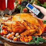 AJOXEL Thermomètre Cuisine, Thermomètre à Viande avec Acier Inoxydable Sonde, Lecture Rapide en 4 à 6 Secondes, Rétroéclairage, Température d'alarme pour Alimentaire, Eau de Bain Bébé, Barbecue de la marque AJOXEL image 3 produit