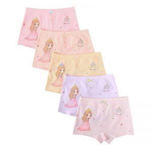 Allmeingeld Filles Lot de 5 Paires Coton Imprimé Princesse Boxers Enfants sous-vêtement Taille 1-13ans de la marque Allmeingeld image 0 produit