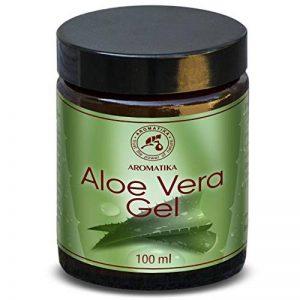 Aloe Vera Gel 100 ml - Gel Naturel - Idéal pour le soin des cheveux - Visage - Corps - Mains - Ongles - Cuticules - Gel pour les Pieds après l'épilation de la marque AROMATIKA-trust-the-power-of-nature image 0 produit