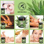 Aloe Vera Gel 100 ml - Gel Naturel - Idéal pour le soin des cheveux - Visage - Corps - Mains - Ongles - Cuticules - Gel pour les Pieds après l'épilation de la marque AROMATIKA-trust-the-power-of-nature image 4 produit