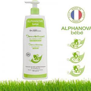 Alphanova, Bain moussant pour bébé, 3 en 1 - Bain corporel, shampooing et bain moussant, hypoallergénique, ne pique pas les yeux - Biologique - 500ml de la marque Alphanova image 0 produit