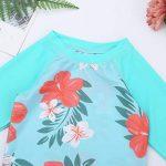 Alvivi Ensemble 2Pc Maillot de Bain Bébé Fille Bikini Florale Haut T-Shirt + Culotte de Bain Bikini de Nataion Plage Vacances Printemps Eté 3 Mois-4 Ans de la marque Alvivi image 4 produit