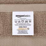 AmazonBasics Everyday Serviettes de toilette - 2 serviettes de bain, 2 essuie-mains et 2 gants de toilette, Taupe de la marque AmazonBasics image 2 produit