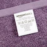 AmazonBasics Lot de 24 petites serviettes en coton 30 x 30 cm Lavande, Rose poudré, Blanc de la marque AmazonBasics image 3 produit