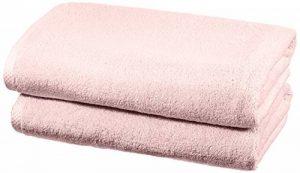 AmazonBasics Set de 2 draps de bain à séchage rapide - Rose poudré de la marque AmazonBasics image 0 produit