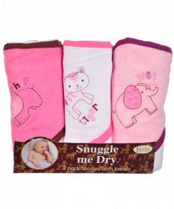 Animaux Sauvages - Set de serviettes de bain avec capuche - 3 pièces - Fille - Frenchie Mini Couture de la marque BabyLand image 0 produit