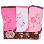 Animaux Sauvages - Set de serviettes de bain avec capuche - 3 pièces - Fille - Frenchie Mini Couture de la marque BabyLand image 1 produit