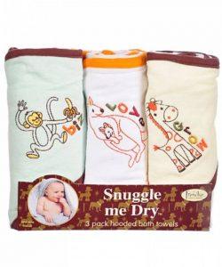 Animaux Sauvages - Set de serviettes de bain avec capuche - 3 pièces - Fille ou garçon - Frenchie Mini Couture de la marque NewBorn-Babies image 0 produit
