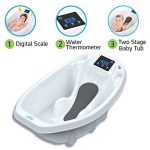 Aquascale Baignoire pour bébé, pour le bain de bébé avec balance numérique de bébé et thermomètre de bain. de la marque Aquascale image 1 produit