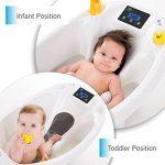 Aquascale Baignoire pour bébé, pour le bain de bébé avec balance numérique de bébé et thermomètre de bain. de la marque Aquascale image 2 produit