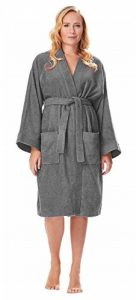 Archee - Peignoir de Bain en éponge Court en stil Kimono pour Femme 100% Coton Tissu Bouclette Doux et léger Robe de Chambre de la marque Arus image 0 produit