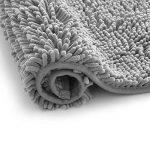 Arkmiido Ensemble Tapis de Bain/Carpettes de Toilette 2 Pièces, Tapis Doux Absorbant Antidérapant Epais en Chenille pour la Salle de Bain/WC,Lavable en Machine (Gris) de la marque Arkmiido image 4 produit