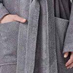 Arus Peignoir de Bain en éponge à Capuche Extra-Long pour Femme/Homme 100% Coton Tissu Bouclette Doux et léger Robe de Chambre de la marque Arus image 4 produit