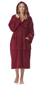 Astra Peignoir de Bain pour Femme/Homme à Capuche, 100% Coton en Tissu éponge, Longueur Mollet ou Longueur Cheville de la marque Arus image 0 produit