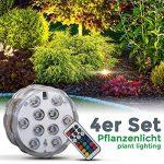 B.K. Licht Lumière LED sous-marin, éclairage piscine IP68, éclairage submersible décoratif piscine étang vase, luminaire sous l'eau étanche, luminaire multicouleur télécommandé, 230V, IP68, Ø 70 mm de la marque B-K-Licht image 3 produit