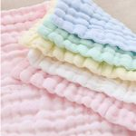 Baby Wash Cloths - Lingettes en coton pour bébé en mousseline naturelle Leepem baby- Serviette et débarbouillettes pour bébé doux et oranic pour nouveau-né pour peau sensible ( 5 Pack) de la marque Leepem baby image 2 produit