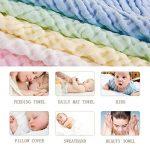 Baby Wash Cloths - Lingettes en coton pour bébé en mousseline naturelle Leepem baby- Serviette et débarbouillettes pour bébé doux et oranic pour nouveau-né pour peau sensible ( 5 Pack) de la marque Leepem baby image 1 produit