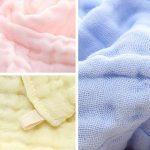 Baby Wash Cloths - Lingettes en coton pour bébé en mousseline naturelle Leepem baby- Serviette et débarbouillettes pour bébé doux et oranic pour nouveau-né pour peau sensible ( 5 Pack) de la marque Leepem baby image 4 produit