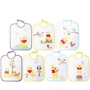 Babycalin Lot de 7 Bavoirs Naissance Winnie 22 x 27 cm de la marque Babycalin image 0 produit