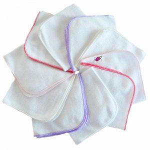 Babymajawelt® - Débarbouillettes en flanelle mini 25/25 - 10-Pack pour filles - NOUVEAU de la marque Babymajawelt® image 0 produit