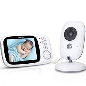 Babyphone Caméra Vidéo sans Fil 3,2 Pouces Visiophone Bébé 2,4 GHz Caméra Surveillance Bébé avec Ecran Couleur LCD Talkie Walkie Vision Nocturne Berceuses Intégrées et Thermomètre de la marque AWANFI image 0 produit