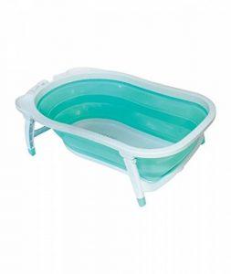 Babysun Baignoire Bébé, Pliable Ultra Compacte, 0-12 Mois, Contenance: 35L, Turquoise de la marque Babysun image 0 produit