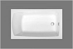 Baignoire acrylique blanc rectangulaire 120x 70cm x41cm de la marque Unbekannt image 0 produit