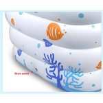 Baignoire Baignoire gonflable - Baignoire épaissie pour bébé Anneau de ballon à quatre couches Grande piscine pliante Famille Baignoire Convient pour Salle de bains Chambre Piscine Jardin extérieur 12 de la marque L&Y image 4 produit