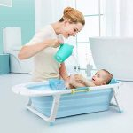 Baignoire bébé pliable de couleur bleue pour les voyages de la marque Babysiting image 2 produit