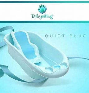 Baignoire bébé portable avec assise bleue antidérapante, facile à transporter et très légère de la marque Babysiting image 0 produit