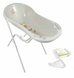 Baignoire bébé XXL 100cm Disney Winnie l'Ourson Blanc Nacré + Support Baignoire + Tuyau de drainage de la marque Unbekannt image 0 produit