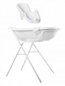 Baignoire Bébé XXL 100 cm + Support Baignoire + Siège de Bain Blanc + Gant de la marque OKT-Kids image 0 produit
