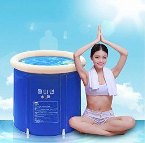 Baignoire Pliage baignoire bain baril baignoire adulte bain gonflable, plus épais baignoire de seau en plastique. ( taille : L ) de la marque Baignoire image 0 produit