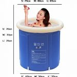 Baignoire Pliage baignoire bain baril baignoire adulte bain gonflable, plus épais baignoire de seau en plastique. ( taille : L ) de la marque Baignoire image 3 produit