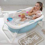 Baignoire pliante avec couvercle isolant, baignoire pliante pour adulte baignoire baignoire seau de baignade très grands enfants bain épaississement baril famille général-2 de la marque HDJX image 3 produit
