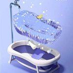 Baignoire pliante, baignoire pour bébé, baignoire pour enfants, fournitures de natation pour enfants, assis, grand de la marque HDJX image 2 produit
