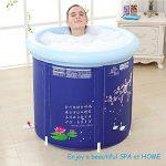Baignoire portable en plastique, salle de bain pour adulte avec pompe à air, grande taille, pliable, baignoire de trempage autoportante, sauna gonflable,facile à installer de la marque FWec image 4 produit